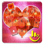 Sparkling Red Heart Keyboard Theme Icon