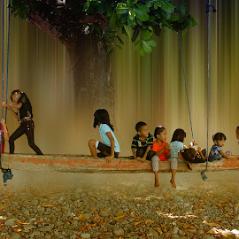 swing by Robby Montolalu - Digital Art People ( sangihe, indonesia, children, north sulawesi, tahuna )