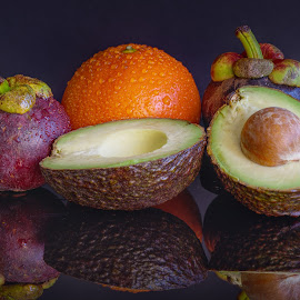 Various Fruits by Sam Song - Food & Drink Fruits & Vegetables ( orange, tropical, avocado, mangosteen )