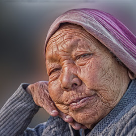 LINES OF PAST by Amarnath Chandra - People Portraits of Women ( expression, skin tone., light,  )