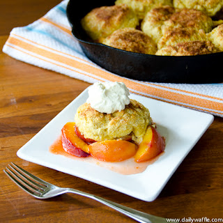 Cornmeal Biscuit Peach Cobbler