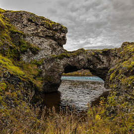 Lava by Edvald Geirsson - Landscapes Caves & Formations ( iceland, lava, rock arch, south, river )