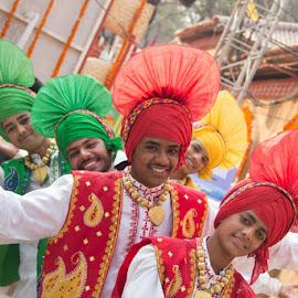 Bhangara Portrait by Nazneen Siddique - People Musicians & Entertainers ( bhangara dancers, dancers of punjab, world's best dance, bhangara, portrait of bhangara guys )