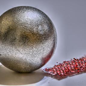 Steel ball by Marek Rosiński - Artistic Objects Technology Objects ( detail, steel ball, macro, focus stacking, metal, steel )