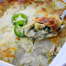 Chicken-&-Spinach Enchiladas