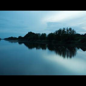 Evening river by Colin Strain - Landscapes Waterscapes ( water, reflection, sky, night, river )