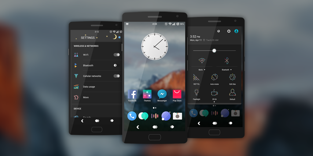Lobit Dark - Cm12 / CM13 Theme Screenshot