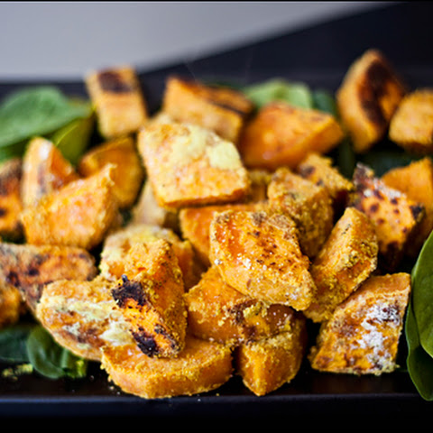 Cheezy Curry Sweet Potato Chunks