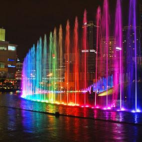 KL Fountains by Mulawardi Sutanto - City,  Street & Park  Fountains ( trafel, fountain, malaysia, kl, city )