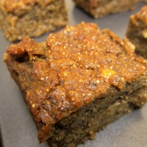 Vegan Pumpkin And Plantain Chia Seed Blondies With Amaranth Flour