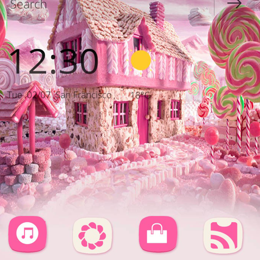Sweet Candy Paradise theme (app)