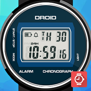 Cover art DROID Retro LCD watch face