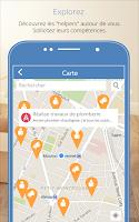 Screenshot of Helpy, l'app qui rend service