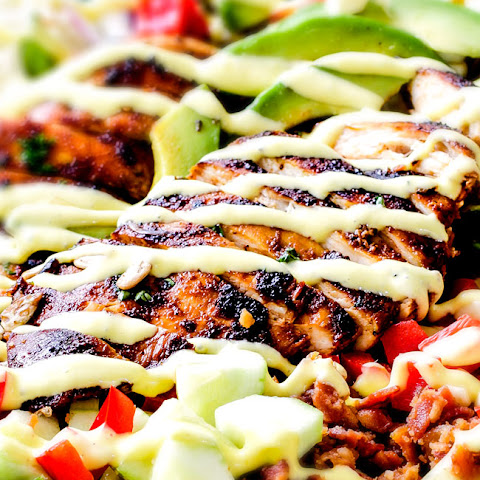 Chipotle Chicken Salad with Honey Mango Dressing