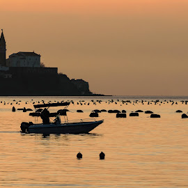 Piran by Simon Olup - Landscapes Travel ( #landscape, #slovenia, #colors, #view, #sea, #piran, #boat, #travel )