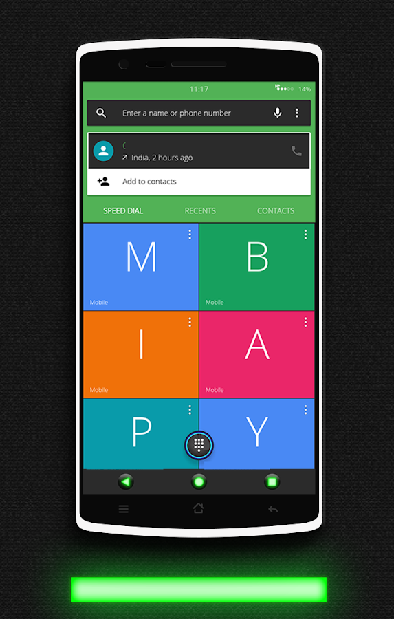Glow Green CM13 CM12.x Theme Screenshot 6