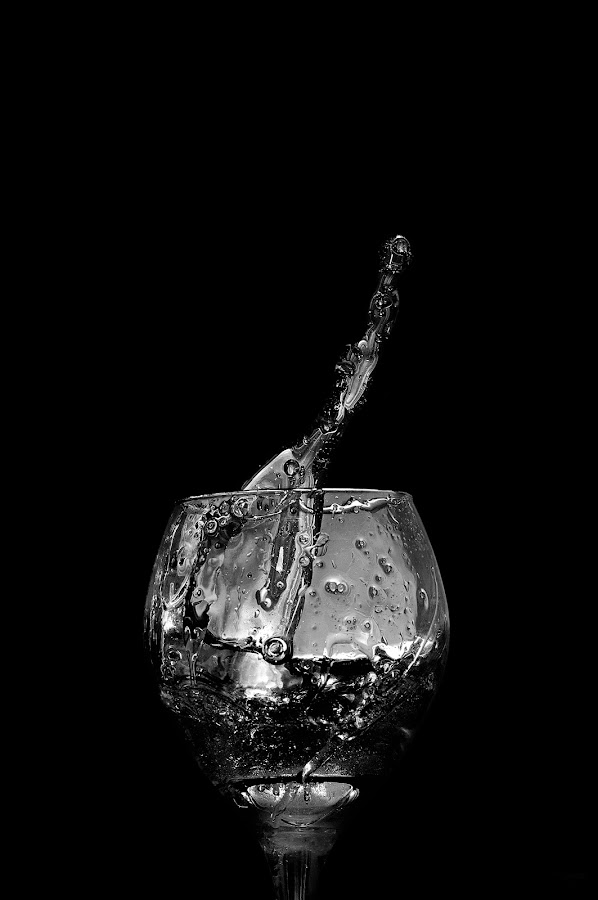 Liquid by Salden Toy Eltagonde - Food & Drink Alcohol & Drinks ( liquid, splash, black and white, glass, drinks )