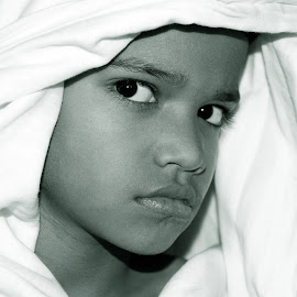 The Black & White Portrait of Child by Mihir Ranjan - Babies & Children Child Portraits ( black and white, portrait of child, close-up of boy, portraits, the black & white portrait of child, portrait )