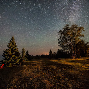 Milky Way over Naniboujou by Peter Stratmoen - Landscapes Starscapes ( minnesota, astrophotography, nikon, astronomy, nightscapes, milky way,  )