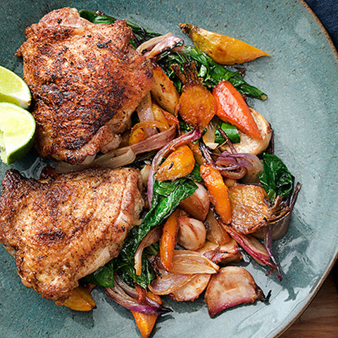 10 Best Roasted Chicken Thighs And Root Vegetables Recipes | Yummly