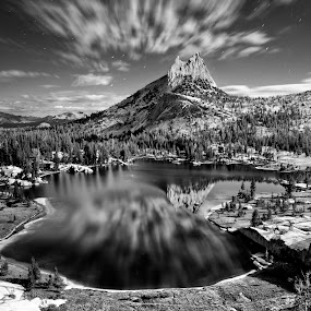 1am under a full moon. by Dustin Penman - Landscapes Mountains & Hills ( dustin, yosemite, penman )