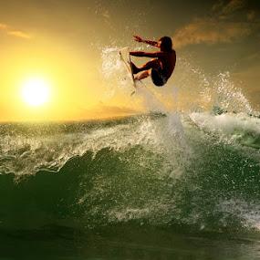 Sunset Flyer by Alit  Apriyana - Sports & Fitness Surfing
