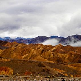 Desert Clouds by Amada Gonzalez - Landscapes Mountains & Hills ( mountains, desert, fog, travel, landscape )