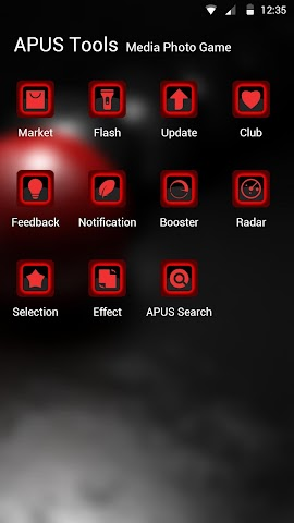 android Red and Black theme for APUS Screenshot 2
