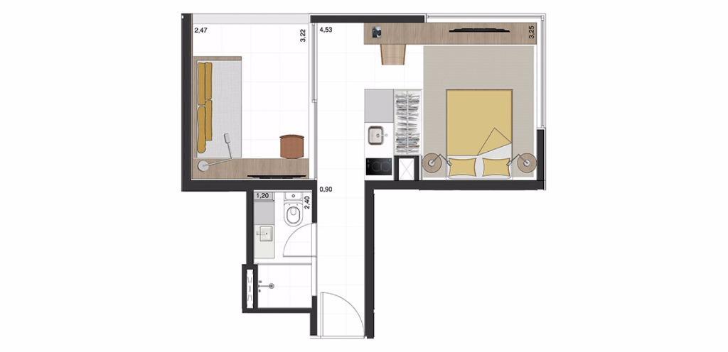 Studio 2a - 33 m²