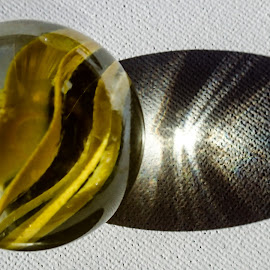 Yellow Marble by Pierre Tessier - Artistic Objects Glass ( marble fun,  )
