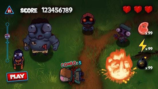 APK Game Zombie Smasher for BB, BlackBerry