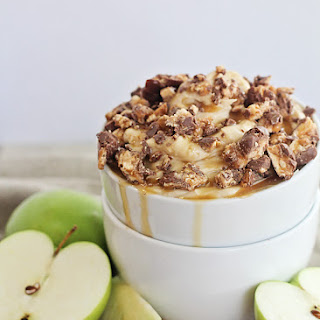 Snickers and Caramel Apple Dip