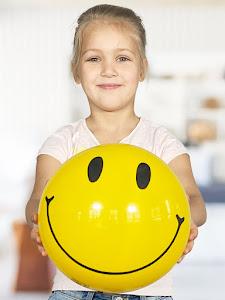 """Мяч надувной серии """"город игр"""", D0002/10542/улыбка"""