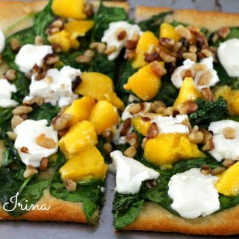 Peaches and Goat Cheese Pizza