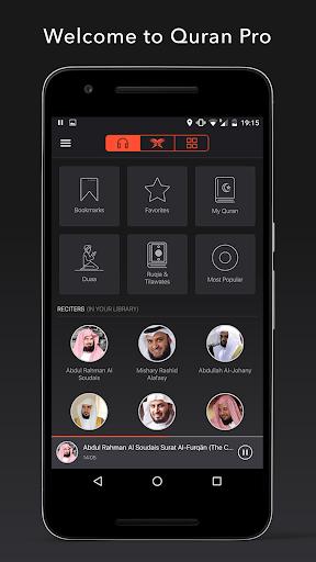 Quran Pro Muslim: MP3 Audio offline & Read Tafsir screenshot 1