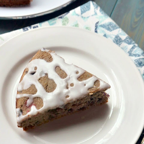 Whole Wheat Berry Coffee Cake with Lemon Glaze #SundaySupper