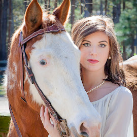 City Cowgirl by Bartholomew Howard - People Portraits of Women ( senior portrait, girl, female, woman, outdoors, horse, portrait )