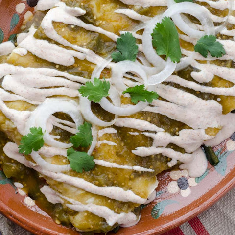Vegan Roasted Tomatillo Enchiladas