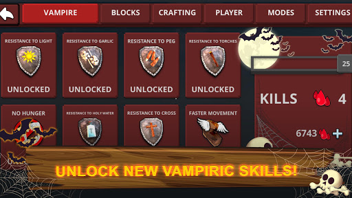 Vampire Craft: Dead Soul of Night. Crafting Games For PC