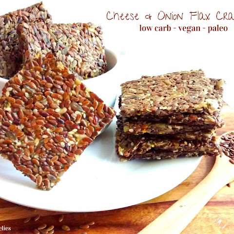 Cheese & Onion Flax Crackers