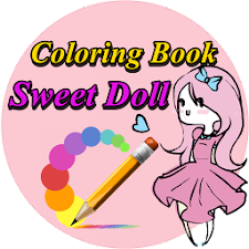 Coloring Book Sweet Doll