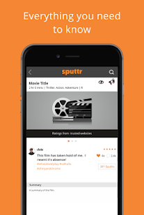 Sputtr- Discover Movies and Tv - screenshot