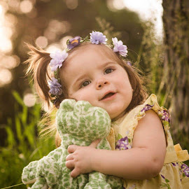 One more hug by Bonnie Crossley - Babies & Children Child Portraits ( frog, outdoor, kids, portrait, photography )