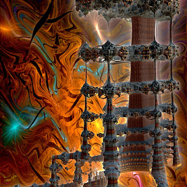 Hell's Castle by Rick Eskridge - Illustration Sci Fi & Fantasy ( fantasy, jwildfire, mb3d, fractal, twisted brush )