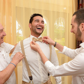 Groom, Bestman & Dad by Andrew Morgan - Wedding Getting Ready ( zanzibar, wedding day, wedding, getting ready, destination wedding )