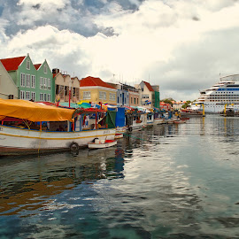 Boat Market by Preston Whayland - Landscapes Travel ( curacao market, curacao, caribbean destination, cruise ships, caribbean )