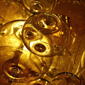 Amber Spheres by Bill Foreman - Artistic Objects Glass ( chandelier, amber, glass, ballroom, spheres )