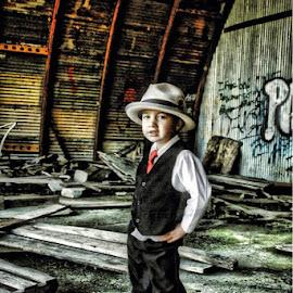 Boy on a mission by James Kernodle - Babies & Children Child Portraits