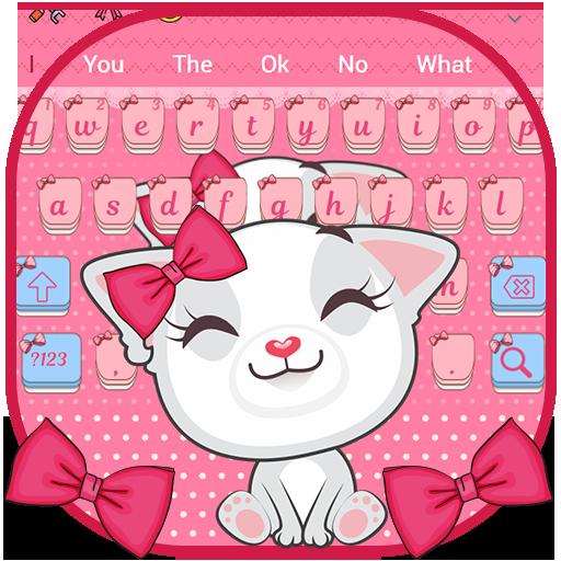 Cute Cat Bowknot Keyboard (app)