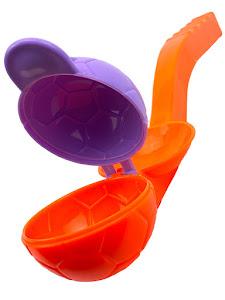 """Форма для лепки снега серии """"Город Игр"""", мяч L, крышка, оранжевый"""